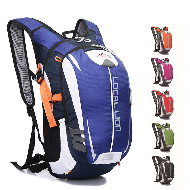 2017 नई यात्रा बैग खेल बैग निविड़ अंधकार आउटडोर चढ़ाई बैग महिलाओं और पुरुषों चिंतनशील पट्टी सायक्लिंग बैग के साथ