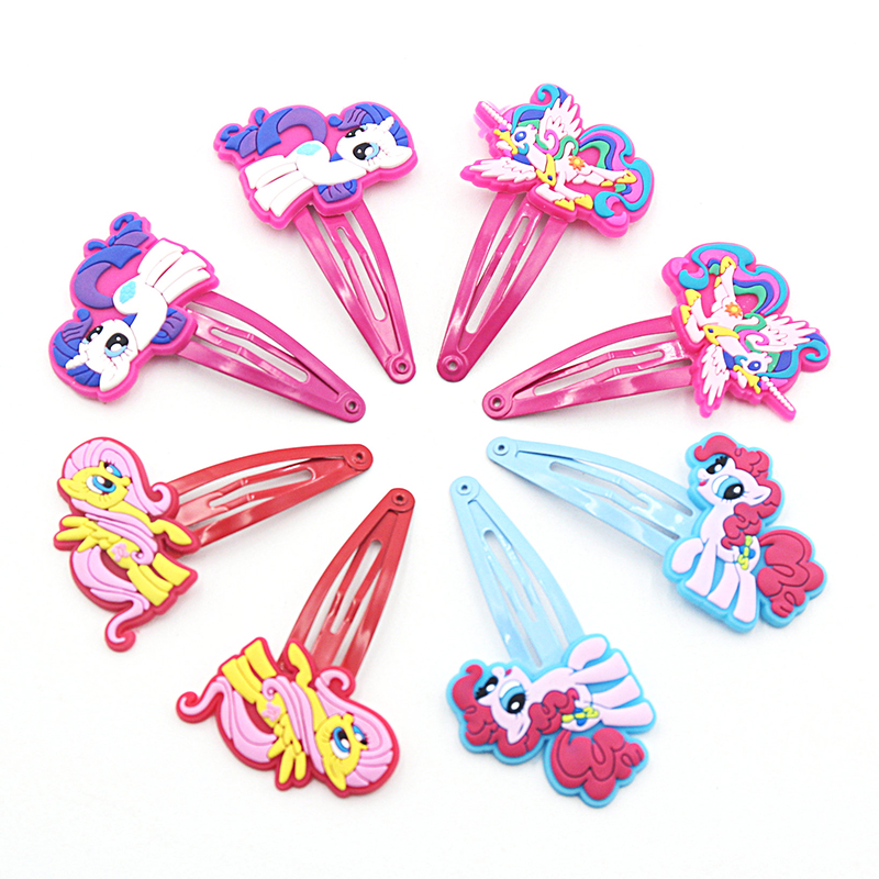 10PCS Newly Design Children Pig Horse Hair Accessories My little Ponys Hair Clips Cartoon Kids Hairpins Cute Girl Hair Ornaments 2pcs 1lot little ponys princess braid wig hair clips hairpin headdress party hairgrips cosplay hair accessories headband