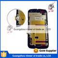 Para motorola moto g2 g 2 xt1063 xt1064 xt1068 lcd full screen display + digitalizador táctil + marco negro original