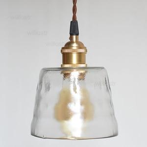 Image 3 - Хрустальная медная Подвесная лампа ручной работы из матового стекла для ресторана, отеля, столовой, кафе бара, латунная Подвесная лампа