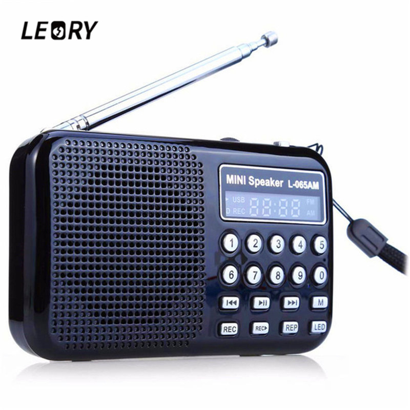 LEORY Radio FM/AM Radio Receiver MP3 Player Rechargeable USB Black Blue Red LED Flashlight Radio Recorder tivdio v 116 fm mw sw dsp shortwave transistor radio receiver multiband mp3 player sleep timer alarm clock f9206a
