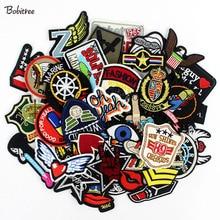 Lote de 50 unidades de insignias para ropa, parches para planchar en la costura, para ropa, mochilas, pegatinas, apliques