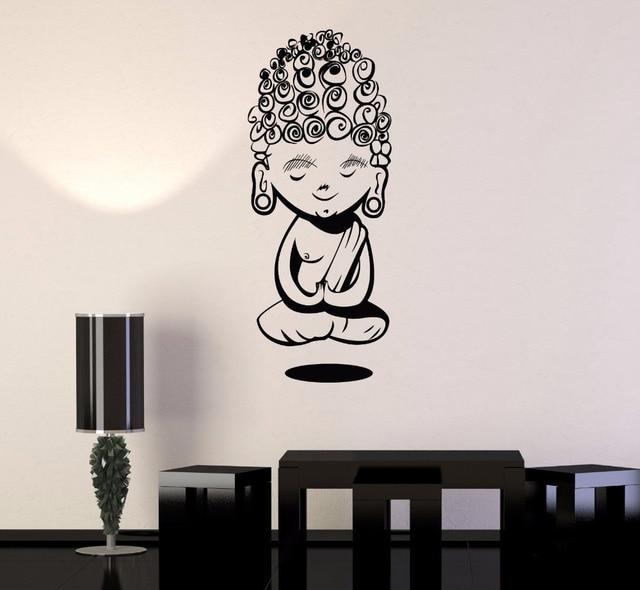 child buddha wall stickers for yoga meditation buddhism vinyl wall