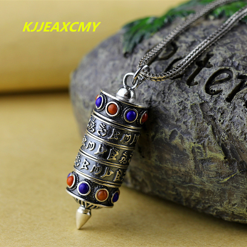 KJJEAXCMY The character of S925 silver jewelry wholesale exquisite inlaid Lapis Pendant Kuans hollow flower the character of silver s925 silver jewelry fashion exquisite lady earrings blue sandstone section