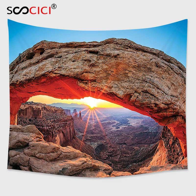 Cutom Tapestry Wall Hanging Room Decorations Famous Sunrise At Mesa Arch In Canyonlands National Park Utah Usa Landmark Tapestry Wall Tapestry Wall Hanginghanging Wall Tapestries Aliexpress