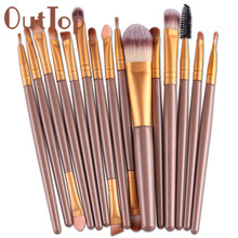 Best Deal New Good Quality Professional 15 pcs Sets Eye Shadow Brush Foundation Eyebrow Lip Brush