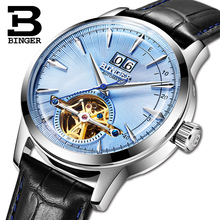 Switzerland BINGER Men's Watches Luxury Brand Automatic Mechanical Men Watch Sapphire Male Japan Movement reloj hombre B-7-2 цена