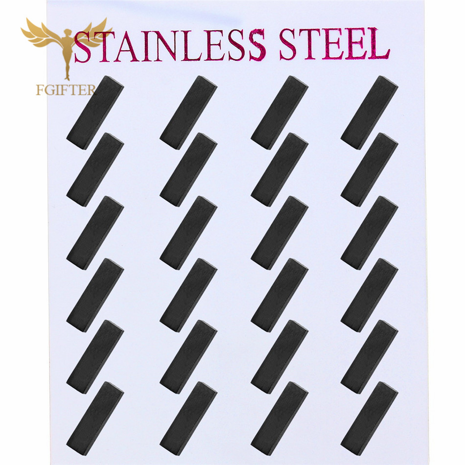 Wholesale <font><b>Earrings</b></font> <font><b>for</b></font> <font><b>Men</b></font> Women 12 pairs lot Geometric Stainless Steel <font><b>Earring</b></font> Punk <font><b>Unisex</b></font> Jewelry Accessory image