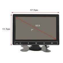 7 Pulgadas Universal Clear Imagen Folable Funcionamiento Estable Monitor Del Coche DVD Del Coche Reverse Vista Frontal del Monitor LCD de Aparcamiento Venta Caliente