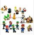 24 unids/lote 1.38 ''-2.16'' Nintendo Super Mario Bros PVC Figura de Acción de Juguete Muñeca