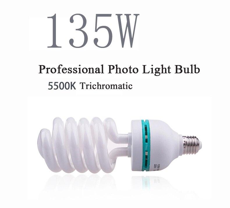 Dison e27 220 V 5500 K ampoule 135 W Photo Studio ampoule vidéo lumière photographie éclairage studio lampe de lumière du jour pour appareil Photo numérique