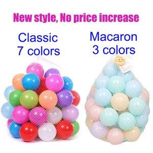 Image 3 - 200 pz/borsa giocattolo per bambini palle colorate in plastica morbida Ocean Ball Eco Friendly piscina di acqua Ocean Wave Ball Pit giocattoli per bambino diametro 5.5cm