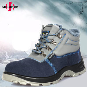 4f1a31420f1 Safety Men s Steel Toe Boots winter warm cow Working shoes