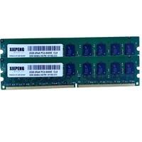 Server RAM 4GB DDR2 800MHz 2GB 2Rx8 PC2 6400E Unbuffered ECC Memory 2GB 667 for DELL PowerEdge M805 M905 R200 Work Station 370