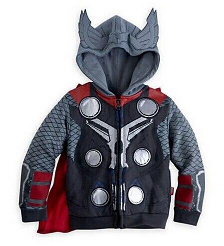 ¡Superventas! Bebé abrigo para la primavera Otoño de los niños al por menor muchachos de la capa hoodies Chaquetas niños ropa de la historieta