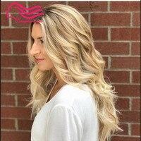 Tsingtaowigs пользовательские ombre светлые сделал kosher парик 100% Европейский Девы волос еврейский парик, парик кошерной best Sheitels Бесплатная доставка