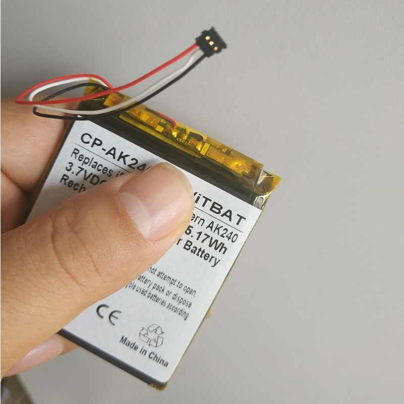 4100 мА/ч, Батарея для iRiver Astell & Керн AK240 плеер новый литий-полимерный перезаряжаемый аккумулятор замена батарей 3,7 V номер для отслеживания посылки