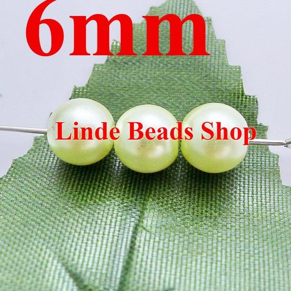 ᗚ750 unids/lote 6mm perlas de vidrio de Navidad ornamento redondo ...