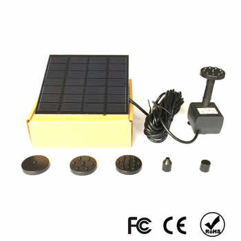 1.5W Solar Garden Fountain Pump Solar Garden Fountains Waterfalls Power Solar Bird Fountain Powered Water Pump Birdbath Fountain