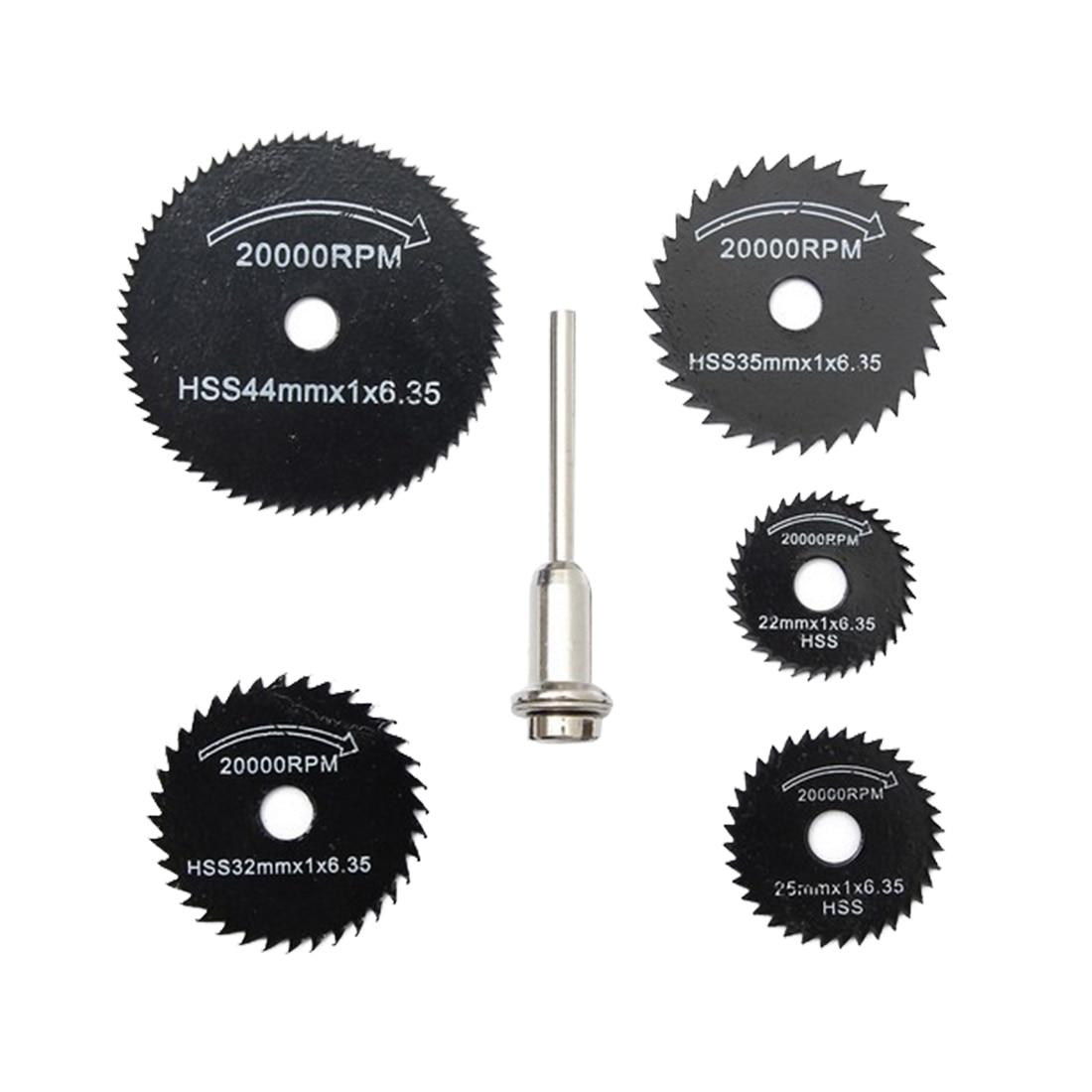 6Pcs Drill Dremel Accessories HSS Mini Circular Saw Blades Power Tools Wood Cutting Disc Grinding Wheel Set For Dremel Tools