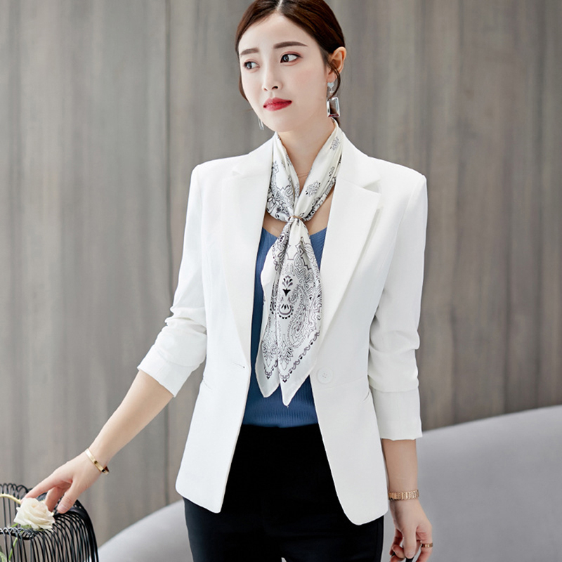 2019 New Degin Simple Leisure Blazer Women Long Sleeve Single Button Jacket Ladies Slim Coat Outwear Female Wear Work Jacket(China)