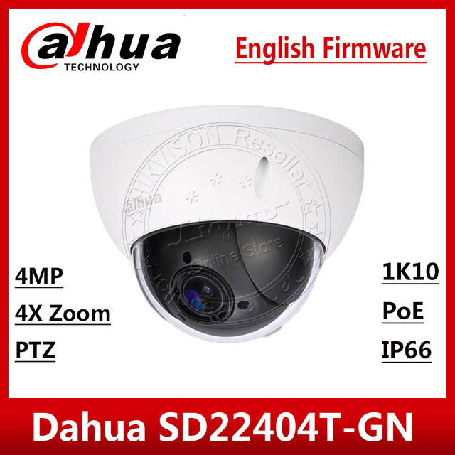 Dahua SD22404T GN 4MP 4x PTZ Network Camera IVS WDR POE IP66 IK10 Upgrade from SD22204T GN With Dahua LOGO EXPRESS SHIP