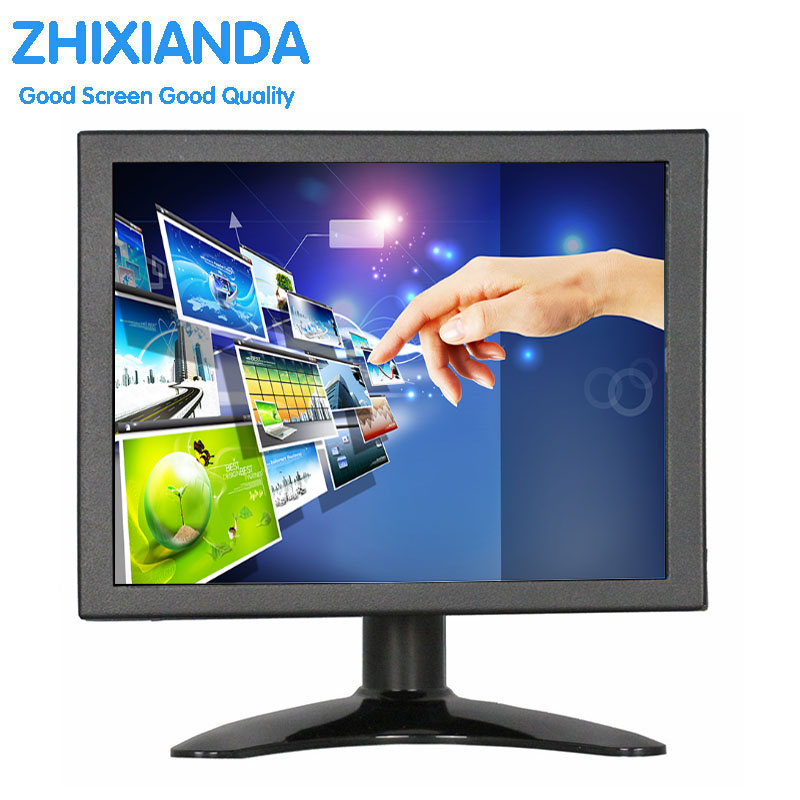 8 Inch Touch Monitor 1024x768 VGA HDMI Metal Case Industrial Medical Equipment Resistive Touch Monitor LCD Screen Display zk080tn 705 8 inch 1024x768 4 3 metal case vga signal open wall hanging embedded frame industrial monitor lcd screen display