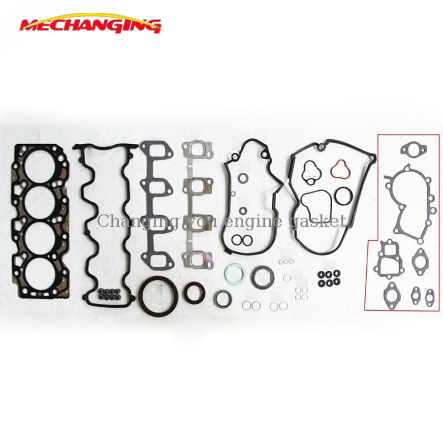 For TOYOTA CAMRY (_V2_) 2.0 Turbo D (CV20_) 2CT 2C Engine Parts Full Set Engine Gasket 04111 64051 04111 64180 50126800-in Engine Rebuilding Kits from Automobiles & Motorcycles    1