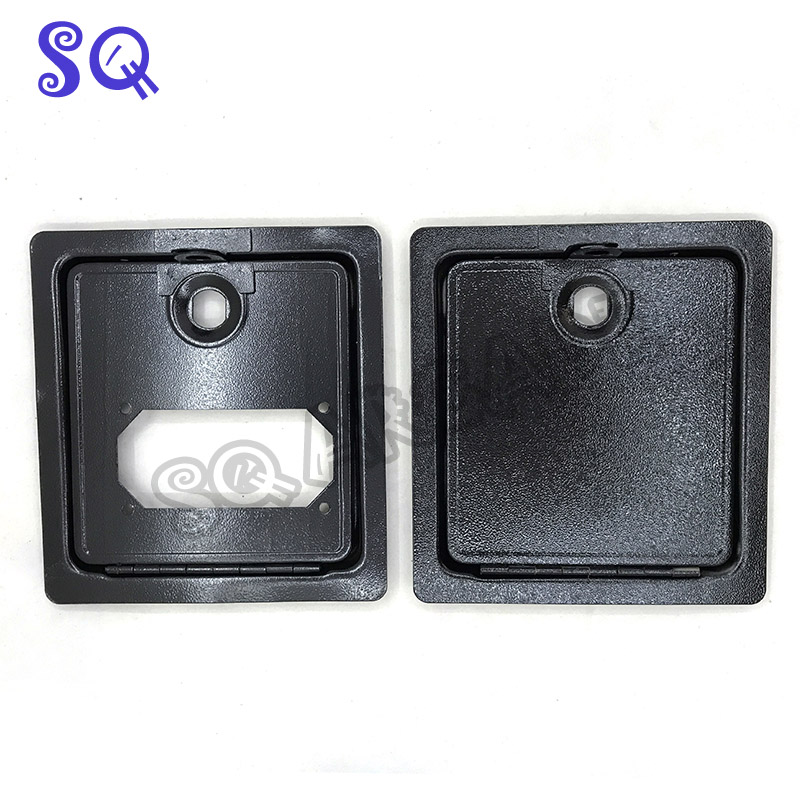 1set Game Accessory Tiny Iron Door Coin Door Arcade Coin Door With Coin Acceptor  And Lock