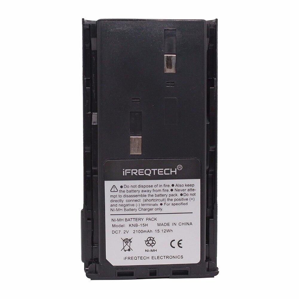 KNB-15H 2100 mAh RÉEL Capacité Ni-MH Batterie pour KENWOOD TK-2102 TK3107 KENWOOD TK260 TK270 TK360 TK370 TK272 TK372 TK388 TK3100 Radio