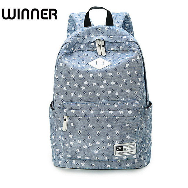 Brand Design Fresh Cute Book Bags Fl High Quality Canvas Printing Backpack Women School Backpacks For