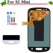 New Replacement Parts For Samsung Galaxy S3 Mini i8190 i8200 White/Blue LCD Display Touch Screen Digitizer Full Assembly