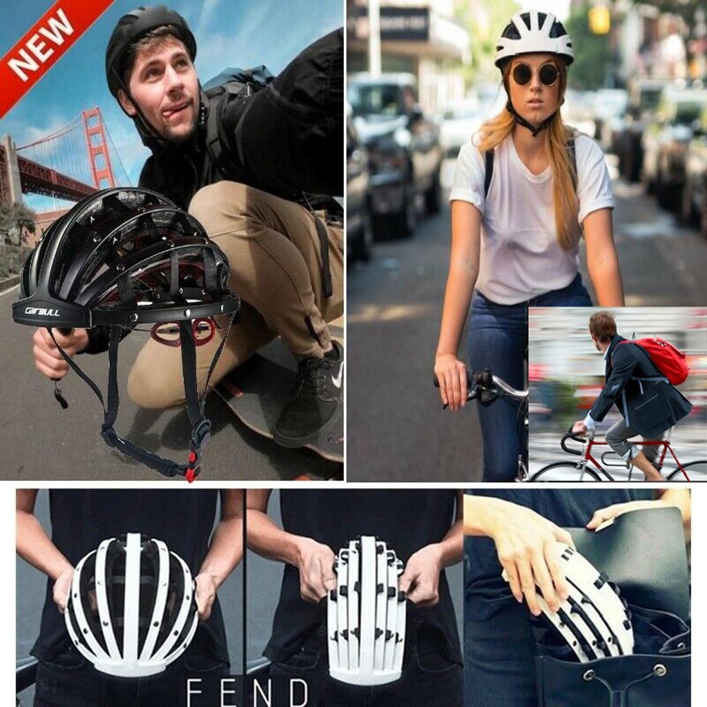 2019 Hot Sale Foldable Bicycle Helmet Bike Folding Ultralight Unisex Cycling Helmets 56-62cm Dropshipping #BY35