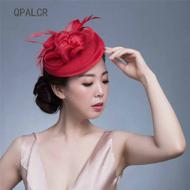 QPALCR Women Pillbox Hat Black Sinamay Fascinator Headband Ladie Feather Floral Veil Derby Wedding Hats Cocktail Race Party Hat chifres malevola png