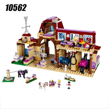 10562 Girls Friends Heartlake Riding Club Building Blocks 594Pcs Kids Model DIY bricks Toys for Children with 41126 Friends(China)