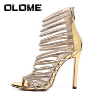 2019 Summer New Women's Shoes Sexy Open Toe Stiletto Heels Rhinestone Sandals Party Wedding Shoes Girl Zapatos Mujer Plataforma
