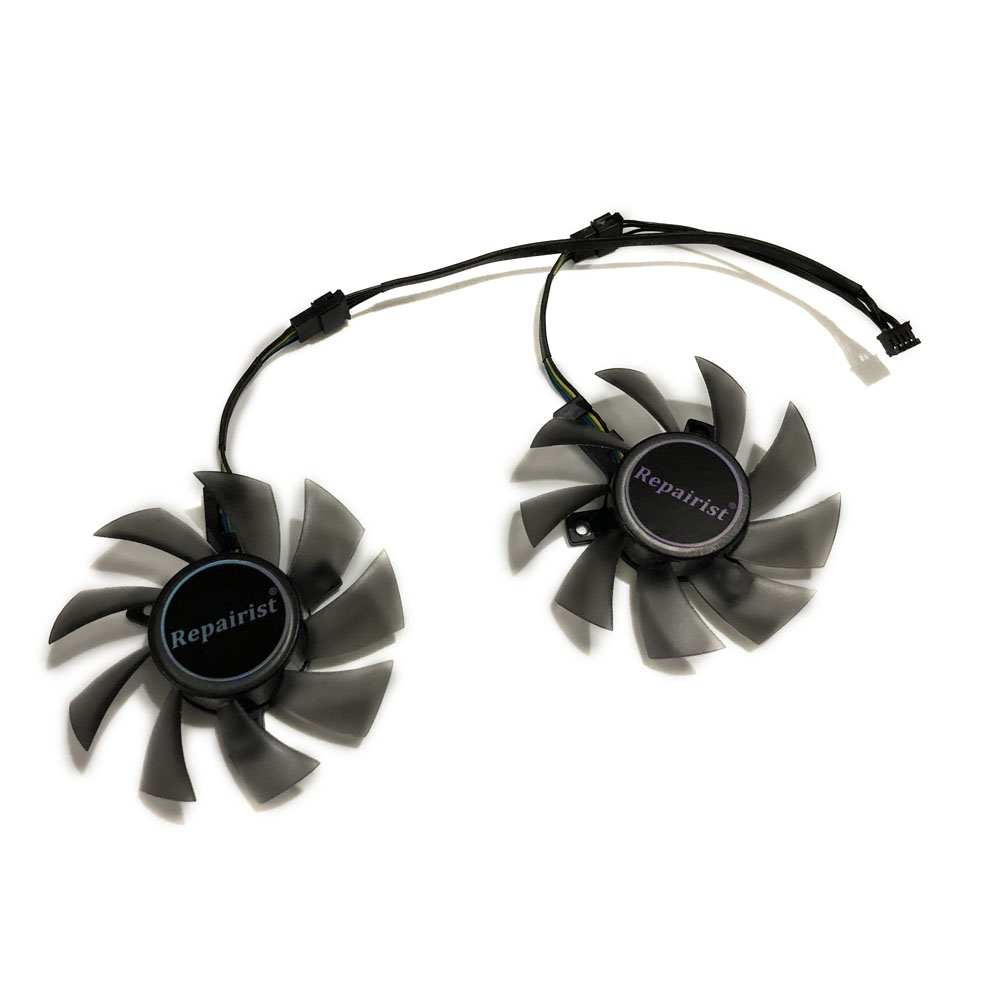цена на 2pcs/set 75mm 4pin CERBERUS GTX 1050TI GPU VGA Cooler Graphics Card Fan For ASUS CERBERUS-GTX1050TI-A4G/O4G Video Card Cooling