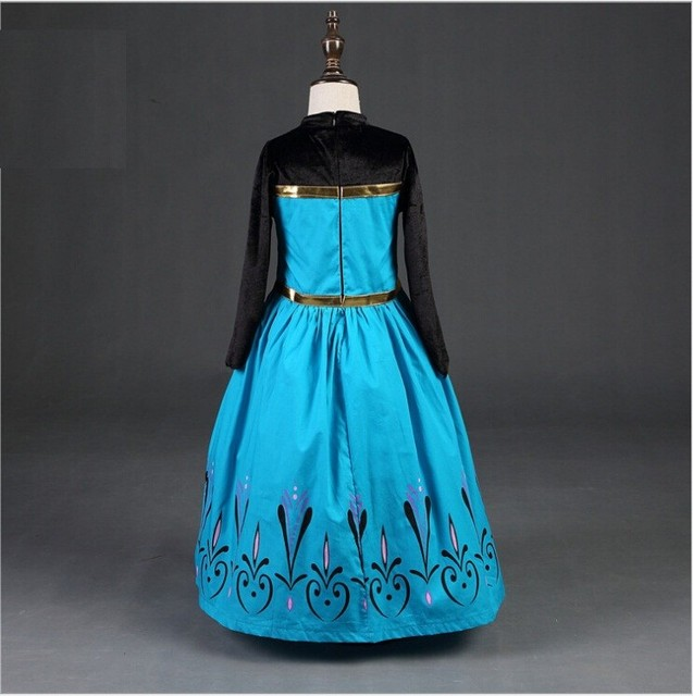 Elsa Anna Cosplay Costume Baby Girls Dress Christmas Summer Dresses Girl Princess Elsa Dress for Birthday Party Vestidos Menina 3