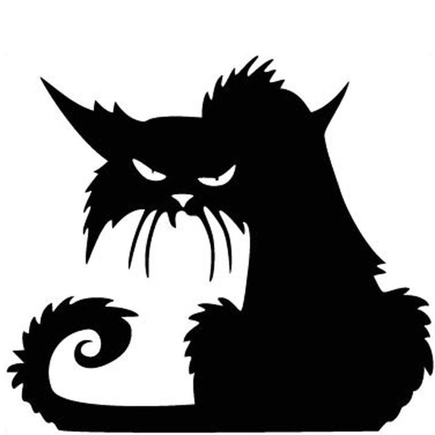 декорируете черный кот картинки на стену уже правда