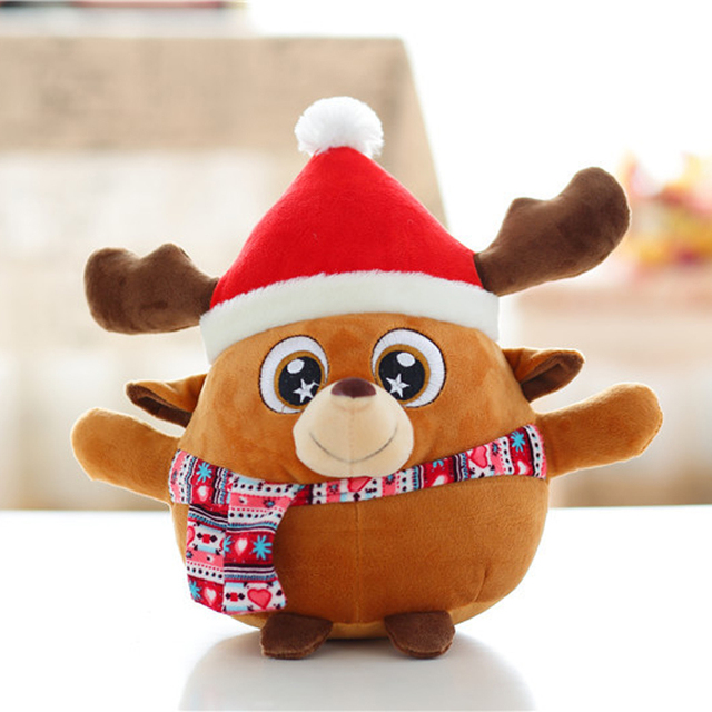 christmas santa claus doll plush toys xmas home decoration kids gifts figurine toys deer animated christmas - Animated Christmas Dolls