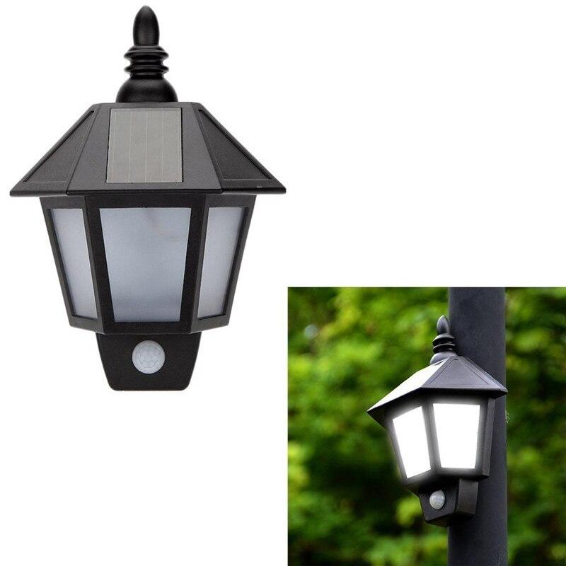 Lumiparty LEDSolar Wall Light Outdoor Solar Wall Sconces Vintage Solar Motion Sensor Lights Security Lights For