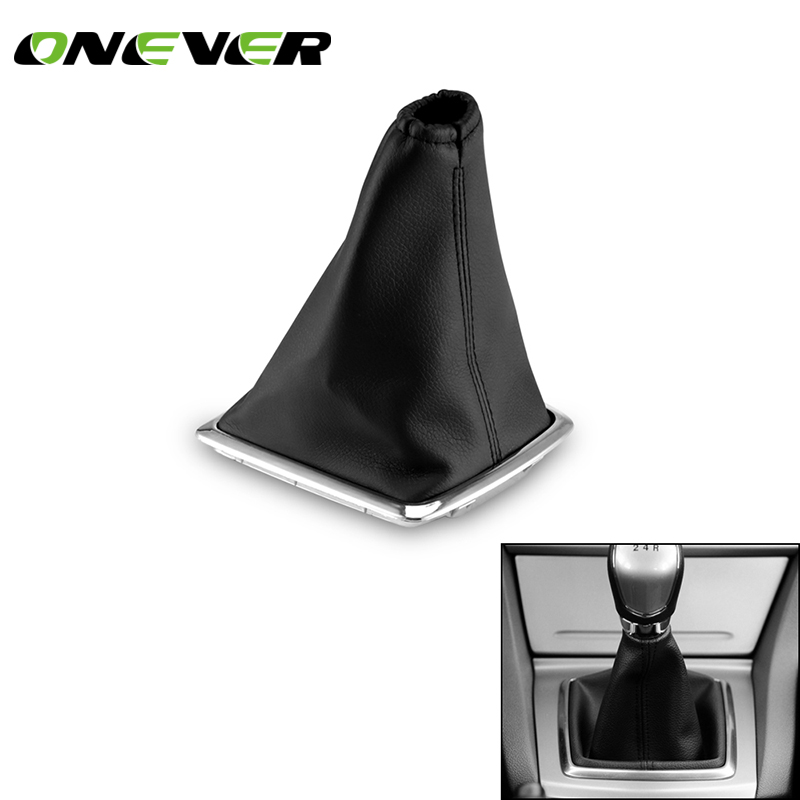 Onever Gear Shift Car Gear Collars Gear Shift Lever Dust Cover Leather Case for Ford Focus MK2 2005-2011 Interior Accessories gear shift