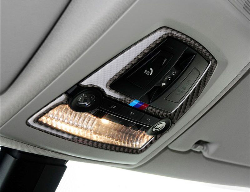 aa5d773a7133 Car Styling Carbon Fiber Car Roof Reading Lamp Frame Decoration Dome ...