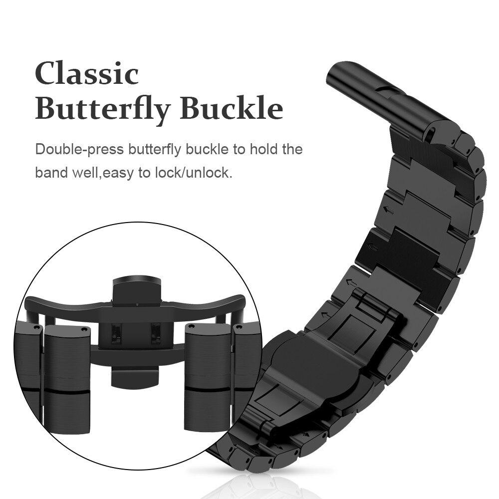 Bracelet de 26mm de largeur pour Garmin Fenix 5X/3/3HR bracelet de Sport en alliage de titane avec fonction d'ajustement rapide doux à porter - 3
