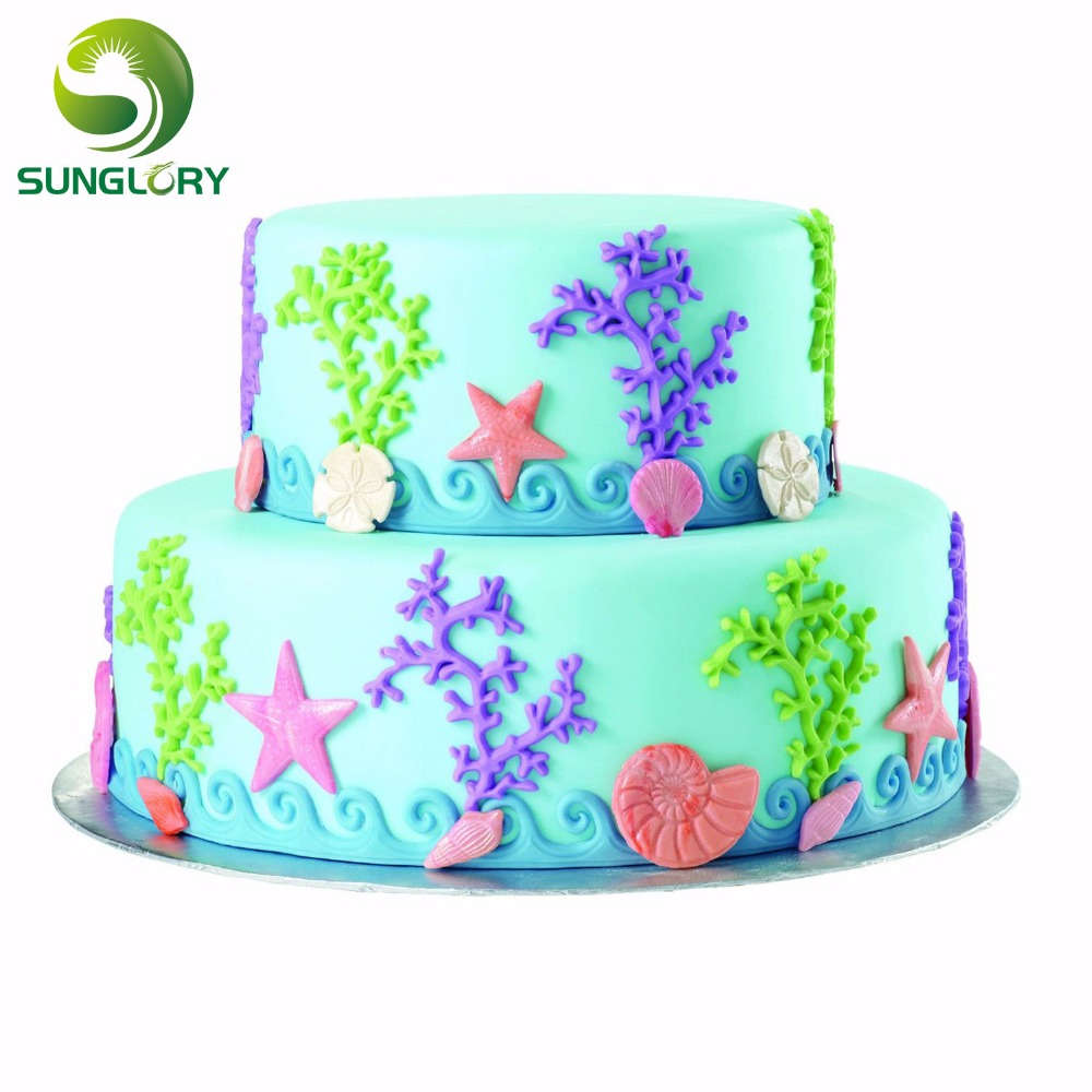 Shell Starfish Sea Snail Shaped Fondant 3d Silicone Mold Cake