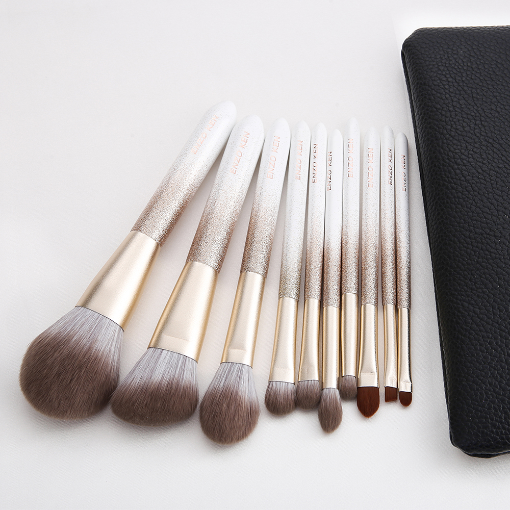 ENZO KEN 10 Pcs Makeup Brushes Set for Highlighting and Contouring Suitable for Eye and Face Makeup 15
