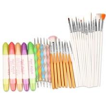 32 In 1 Nail Art Design Set Dotting Drawing Painting Polish Brush Pen Manicure Sets Tools