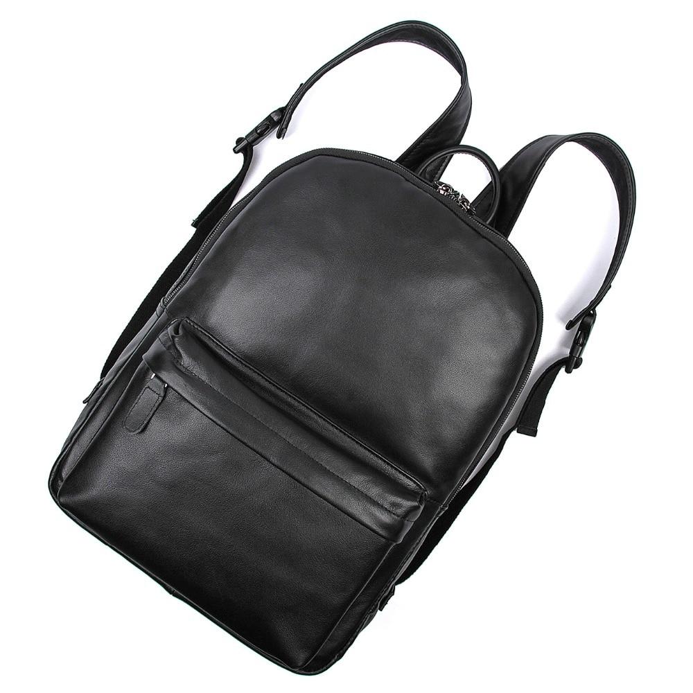 진짜 Leathe 복고풍 Unisex 어깨 가방 책가방 가방 여행 배낭