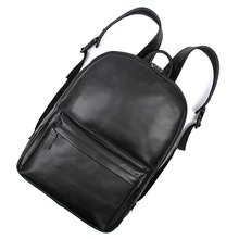 Free Ship Real Leathe Retro Unisex Shoulders Backpack Bag School Journey Rucksack # 7273A