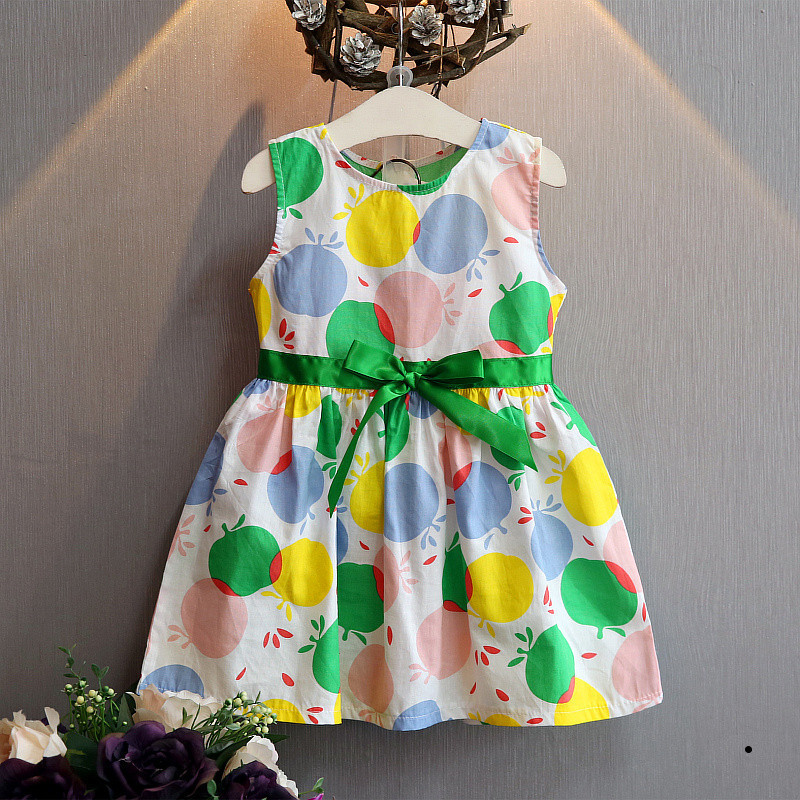 2017 candy multi color new spring and summer girl colorful bow tie dress a word skirt - Buy Candy By Color